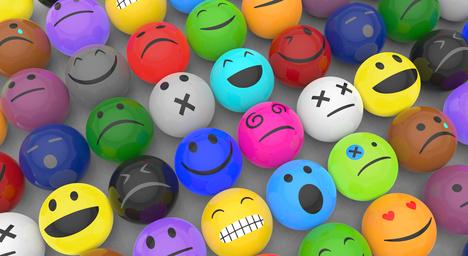 Bunte Emoticons